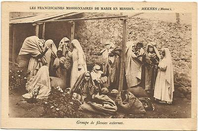 Outdoor Spinners Franciscaines Missionnaires de Marie Morocco Postcard