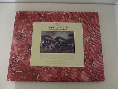 """Optimago,Hand Cut Wooden Jigsaw Puzzle """"LEAVING THE JUNCTION"""" Factory Sealed"""