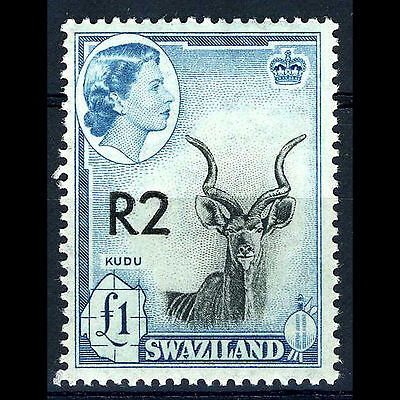SWAZILAND 1961 Overprints R2 Type II. SG 77a. Mint Never Hinged. (CA12T)