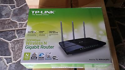 Router Inalambrico TP-Link TL-WR1043ND Punto de Acceso WiFi N 300Mbps GigaBit