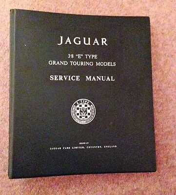 Jaguar E Type Factory Workshop Manual + 4.2&2+2 Supplement(Original)