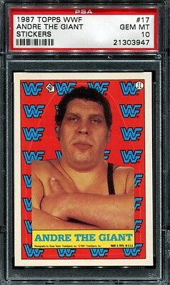 Psa 10 1987 Topps Wwf Stickers # 17 Andre The Giant Pop 3