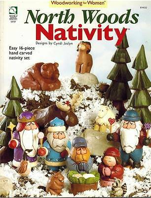 North Woods Nativity Easy  Hand Carving Woodworking 4 Woman Christmas 16 PATTERN