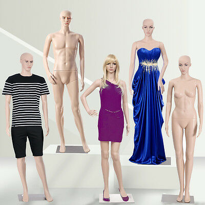 Full Body Dummy Mannequins Shop Window Display Retail Dressmaker Female Male New