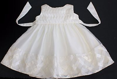 Christening dress party occasion flower girl baby ivory 18 months BNWOTS