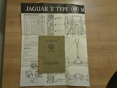 Jaguar E Type Series 1 Roadster and FHC 3.8 Owners Handbook/Manual