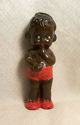 VINTAGE BLACK AMERICANA BABY TOY RATTLE DOLL RELIABLE CANADA EXCELLENT 1950's