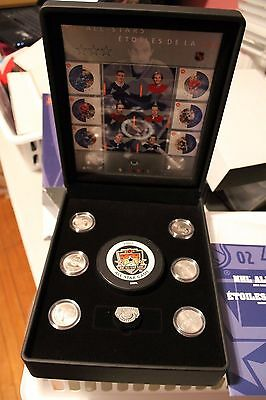 2002 NHL All-stars full coin set PUCK and stamps included in DISPLAY Box