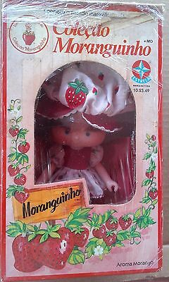 Strawberry Shortcake Doll  Little STRAWBERRY Brazilian doll on box USED