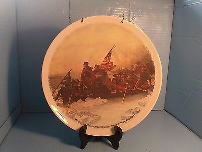 George Washington Crossing The Delaware Collectors China Plate 11'round USA Made