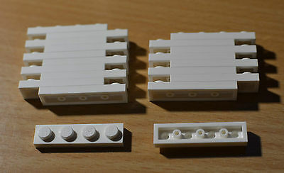 Lego 1 x 4 plate White 3710 Pack of 20 Brand New