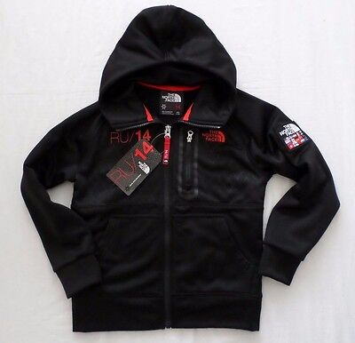 New The North Face Kids Boys International Olympics Hoodie Jacket Black Size S