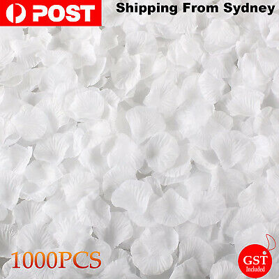 New 1000pcs White Silk Petals Flowers Rose Wedding Scatters Decoration Flower