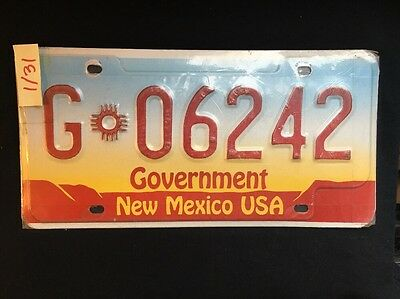 Government License Plate New Mexico USA G 06242
