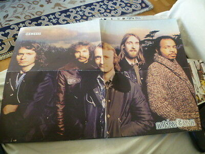 old poster genesis phil collins from portuguese magazine