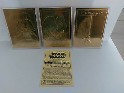 Star Wars Limited Edition Gold Trading Cards