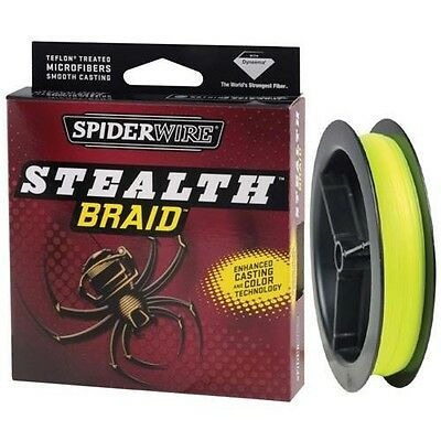 Spiderwire Stealth Braid 6LB BRAID Fishing Line 115m 125Yard Spool HI-VIS YELLOW