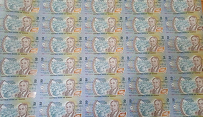 Samoa 2 Tala  1990 Polymer Uncut Sheet 35 UNC Notes P. 31b