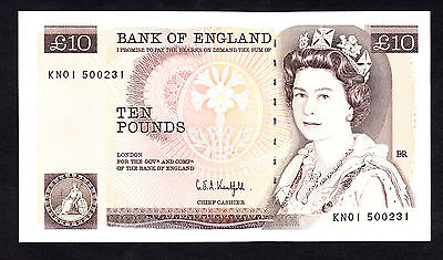 Bank of England 10 Pounds £10 First Prefix  KN01 Kentfield 1991 UNC CV=£120