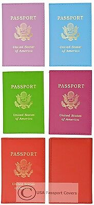 Leather Passport Cover Holder Wallet w Credit Card Holder