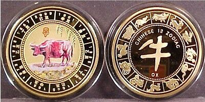 """Chinese Lunar Zodiac """"year Of The Ox"""" Coin"""