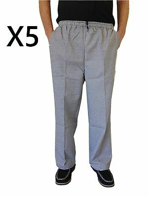 Chef Uniform Hospitality Pants Black And White Check With Draw String  X 5