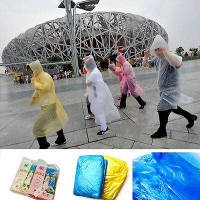 5Pcs Disposable Emergency Rain coat Raincoat Poncho for Outdoor Fishing Hiking