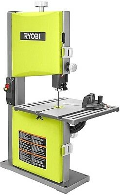 Heavy Duty Ryobi 2.5 Amp 9 in. Table Band Saw Powerful Accurate Woodworking Tool