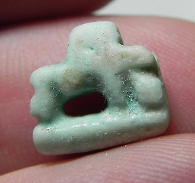 Zurqieh -Af1473- Beautiful Faience Sow Amulet . 600 - 300 B.c