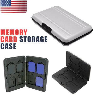 Aluminum 16 in 1 Micro SD SDXC SDHC Storage Holder Memory Card Case Protector