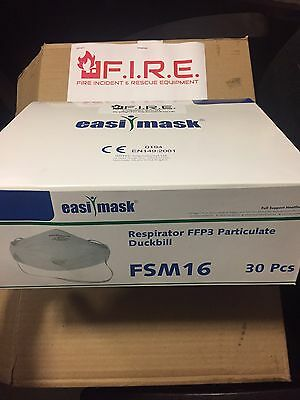 FIREFIGHTER  Dust Masks 30 Respirator FFP3 Particulate Duckbill Easi Mask Fsm16