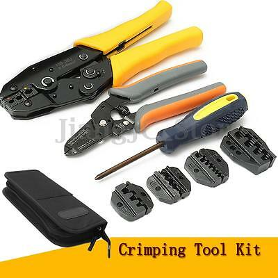 9Pc Crimping Crimper Tool Kit 5 Changeable Jaws 0.5-35mm² Wire Stripper Plier AU