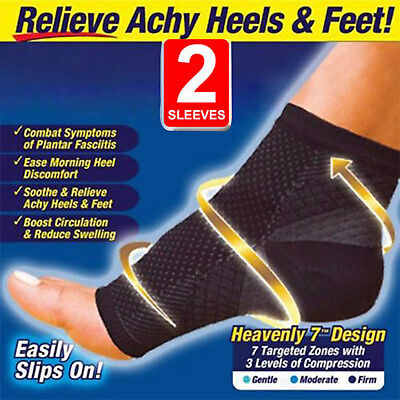 Foot Sleeve Plantar Fasciitis Compression Socks Sore Achy Swelling Heel Ankle