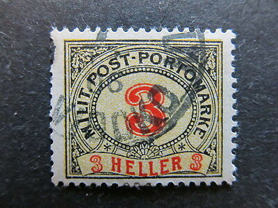 A3P23 Bosnia & Herzegovina Postage Due Stamp 1904 3h used #108