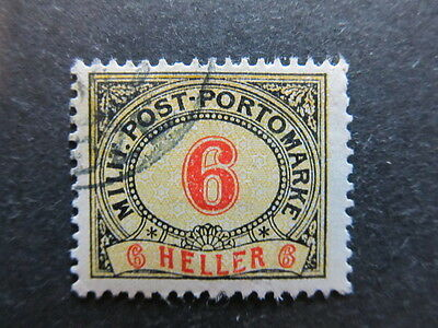 A3P23 Bosnia & Herzegovina Postage Due Stamp 1904 6h used #110