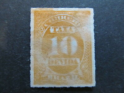A3P23 Brazil Postage Due Stamp 1890 10r used #113