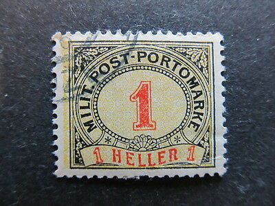 A3P23 Bosnia & Herzegovina Postage Due Stamp 1904 1h used #106