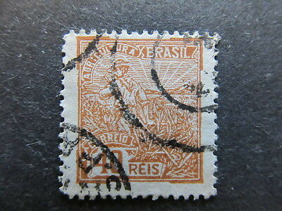 A3P23 Brazil Revenue Stamp Agricultura 40r used #113