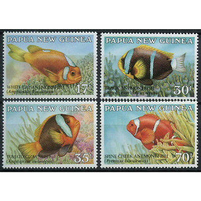 Papua New Guinea 1987 Anemonefish Fishes MNH