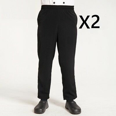 Black Long Trousers Hotel Uniform Chef Pants x2 Buy 2 Get ONE free Pants