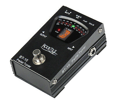 Chromatic Electric Guitar Bass Tuner Pedal Stage Floor Switch 6.3mm Jack In/Out