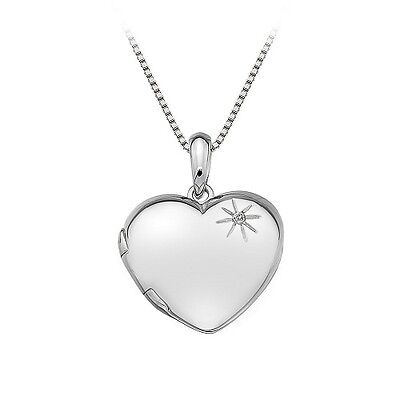 Hot Diamonds Sterling Silver Heart Locket Pendant DP495