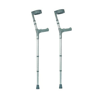 NRS Healthcare Double Adjustable Crutches with Comfy Handle Medium Height - P...