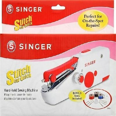 Hand Held Sewing Machine Cordless Repair Quick Handy Portable Singer Stitch Sew
