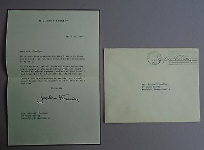 Signed Jacqueline Kennedy Letter of Appreciation to Condolence Mail Handler +