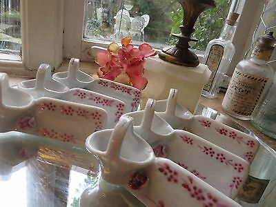 Set Of Six Charming Vintage French  Knife Rests ~ Porte-Couteaux  ~ Roses