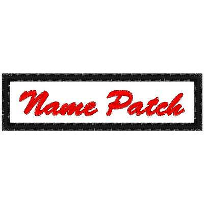 """Custom Embroidered Name Tag  Patch  """"LIMITED TIME SALE, TRY ME PIECE """""""
