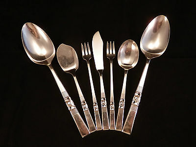 """Mixed Lot Of 7 Community Plate 1948 """"morning Star"""" Silverplate Serving Pieces"""