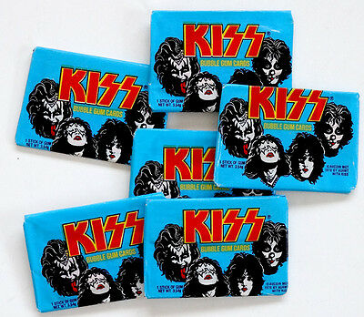 1978 Vintage KISS Donruss UNOPENED PACK Sealed Cards GENE SIMMONS Paul Stanley