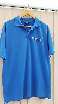 Eastern Airways Airline Aeroplane Dickies Polo Shirt Blue Staff Uniform Clothing